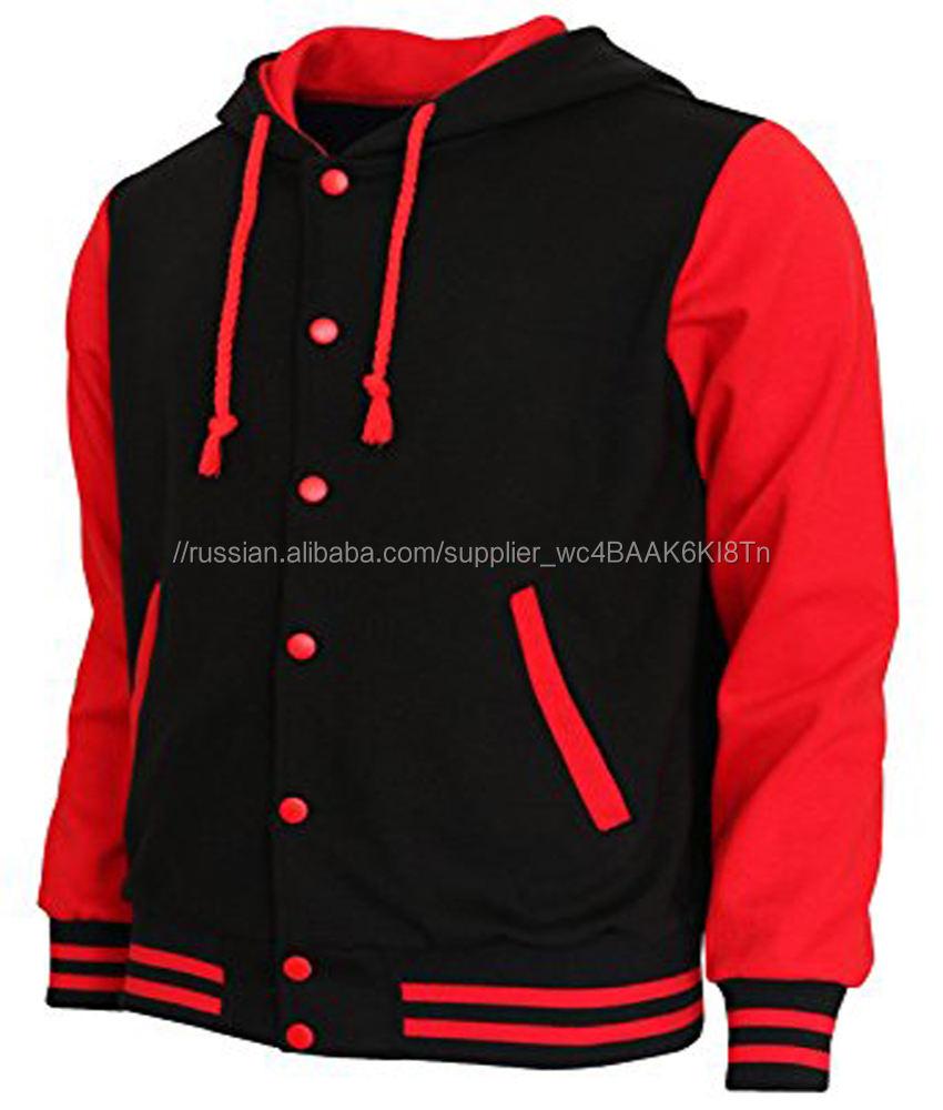 Фабрика питания черный и красный Куртка Varsity леди куртки женщин весна осень одежда