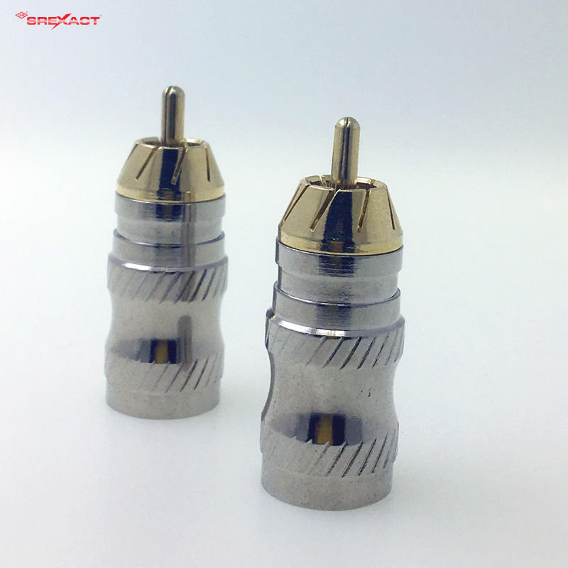 Gold plated body pro audio RCA plug connector
