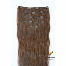 Personal care hair extensions longest human hair clip in hair half brown wig