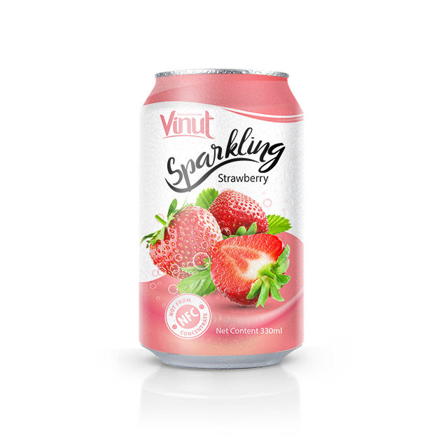330ml Sparkling Strawberry Juice Drink