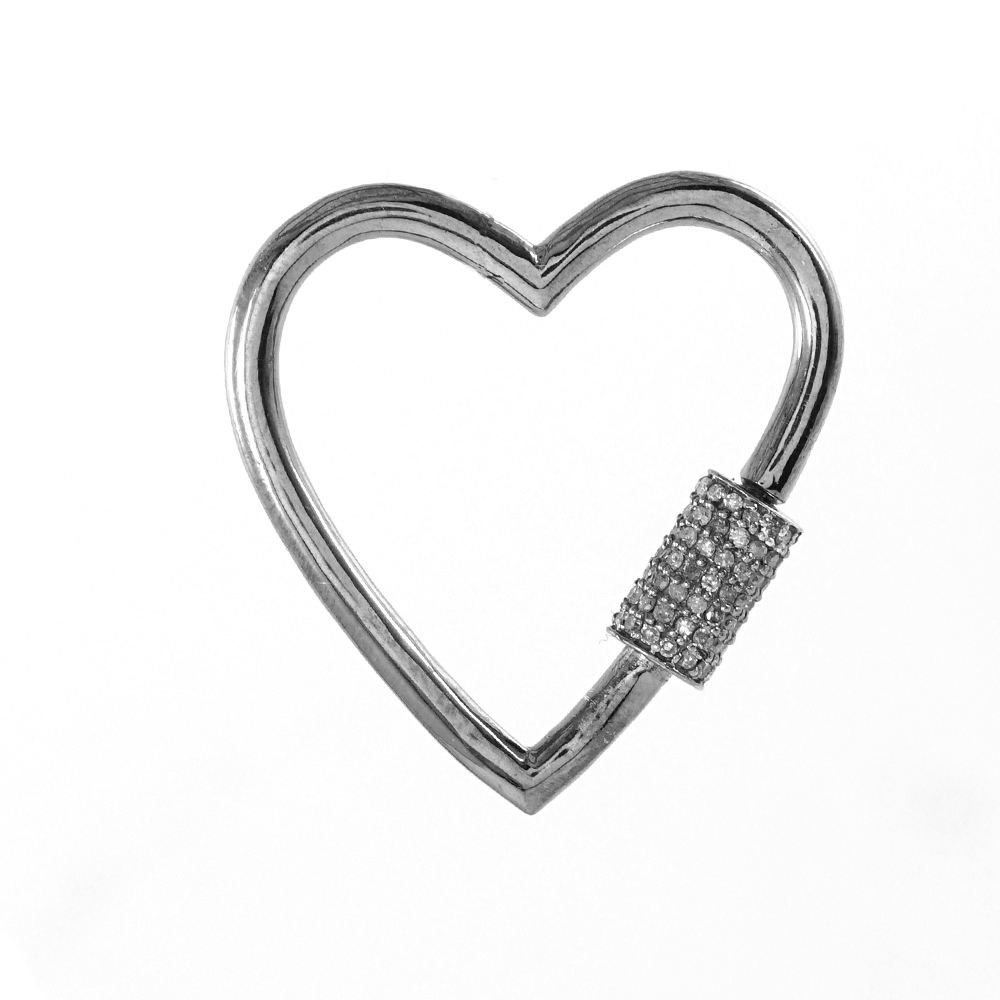 Wholesale Indian Pave Diamond 925 Sterling Silver Trending Clasp Finding