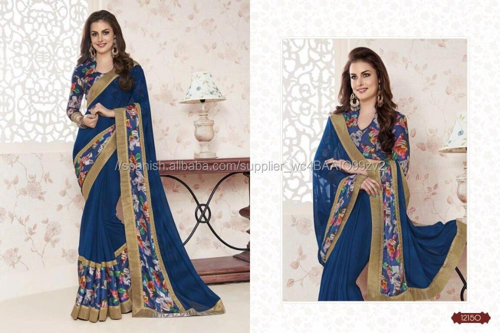Sari / piedra De Cristal trabajo sari / sari Baratos al por mayor / fábrica de la india sari surat
