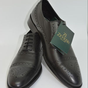 2019 Dress Mens scarpe di cuoio brevetto Smooth Brown Black Wingtip Oxford Lace Up ufficio Uomo d'affari bambini formali bambini