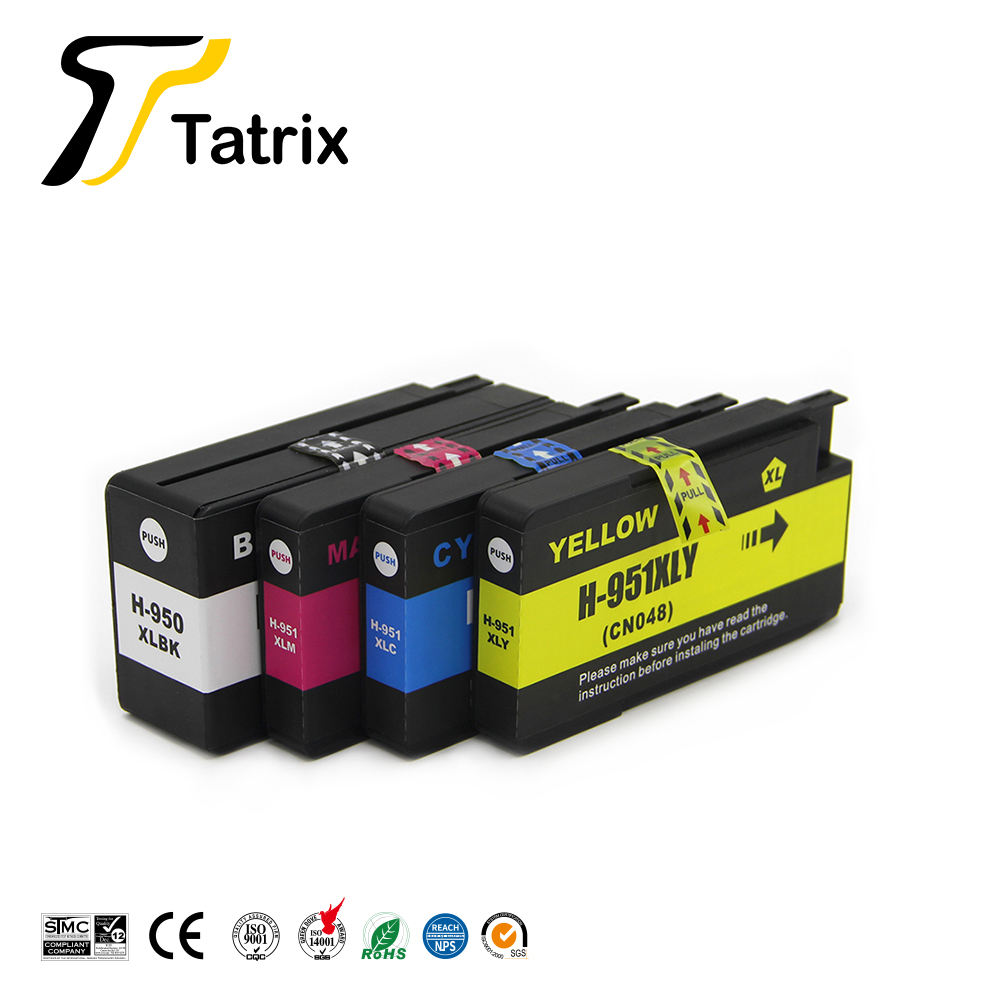 Tatrix 950XL 951XL Kleur Compatibele Printer Inkt Cartridge voor HP Officejet Pro 251dw 8620 8630 8615 8625