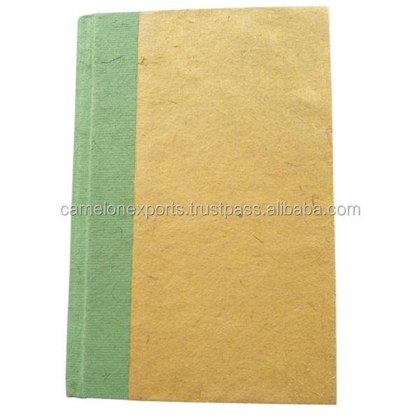 Acopio color papel lokta verde al por mayor columna cuaderno escolar