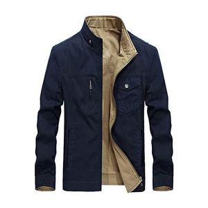 Custom Made Men's Cotton Durable Slim Fit Stand Collar Reversible Jacket & Coats Reversible Jacket for men MK-RJ-3058
