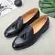 high quality genuine cow leather breathable insole soft rubber outsole leather casual shoes for men loafer