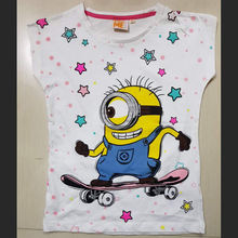 Bangladesh Garments Stocklot/Shipment Cancel/Surplus/Apparel Clearance 100% Export Quality Girls s/s Printed T Shirt