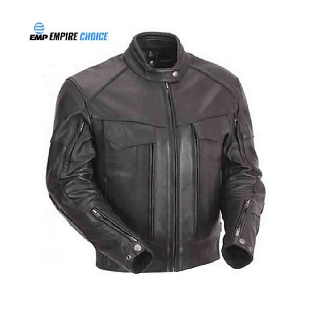 Racing Professional Riding Safety Leather Jacket