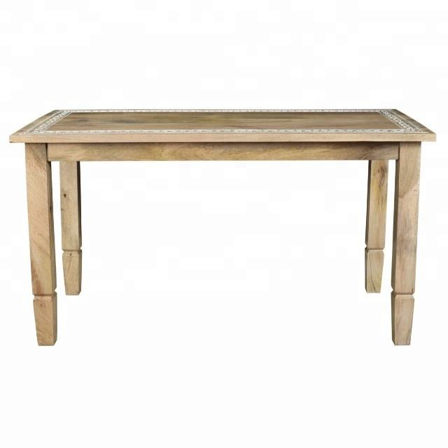 Commercial dining table solid Mango wood oak wood furniture rectangle table