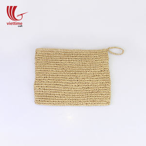 Vintage woven straw wallet/Summer beach bag/Straw purse/ Wholesale