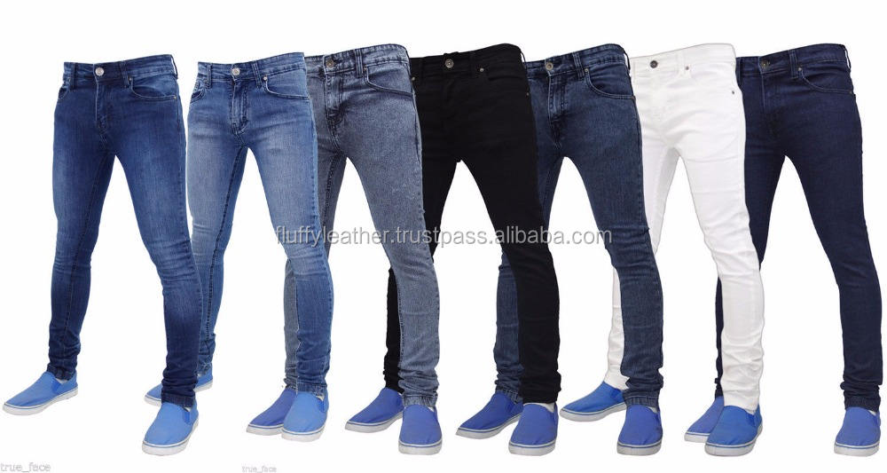 Hommes Super Slim Ajustement Extensible Jeans Denim