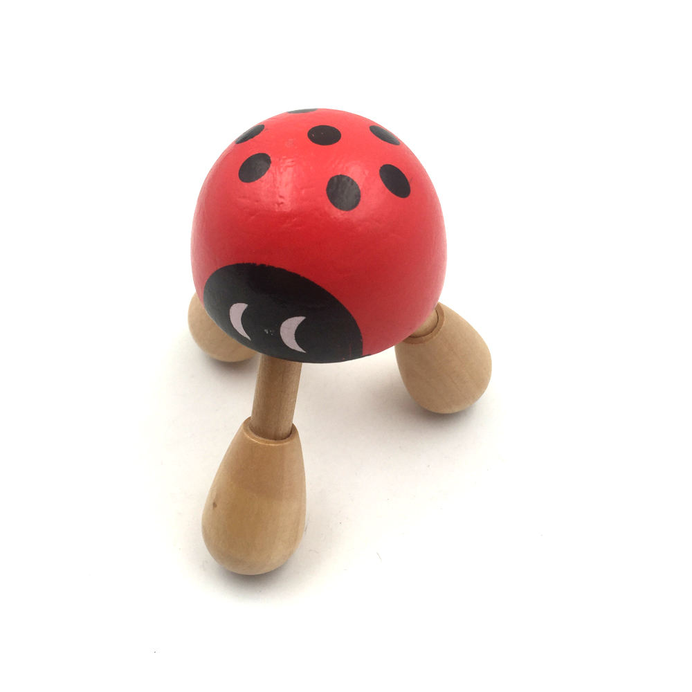Handmade ladybug shape 3 Leg Mini Wooden body Massager