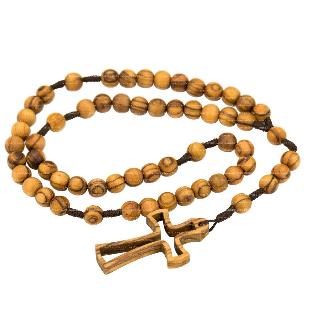 Necklace Rosary Olive Wood Holy Land Handmade - Buy Necklace ...
