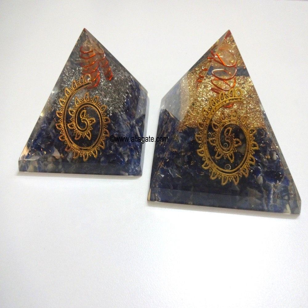 Naturel <span class=keywords><strong>Sodalite</strong></span> Pierre Pyramides D'orgone Fabricant