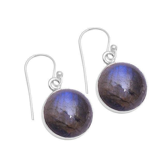 Calcédoine Cabochon Basic carrés 925 Sterling Silver Dangle Boucles d/'oreilles