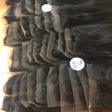 Ivirgo Hair 8''-16'' Natural Black Free/Middle Part Instock Cheap Vietnamese Straight Closure Hair Piece