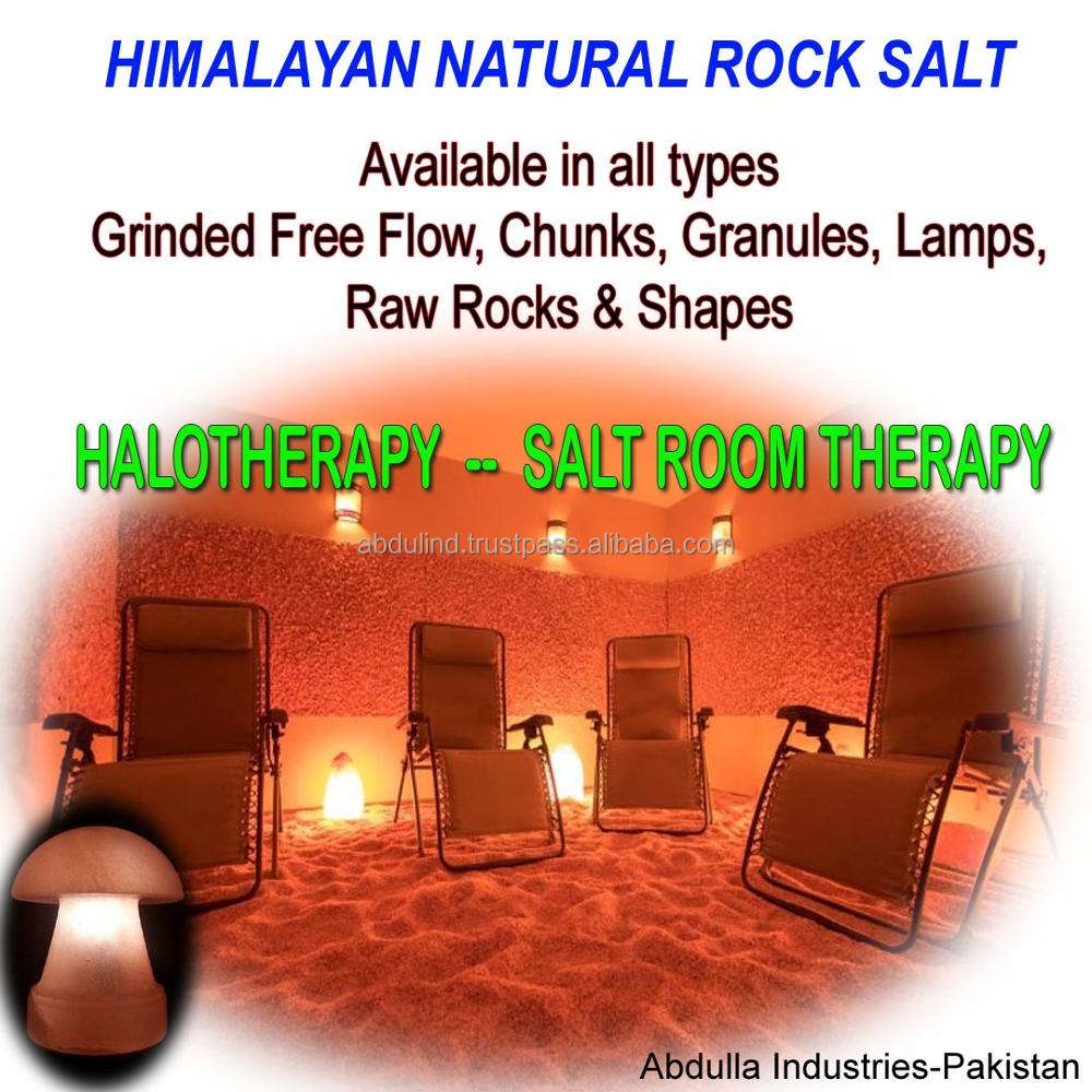 Halotherapy & Salt Room Therapy -- HIMALAYAN ROCK SALT AVAILABLE - Chunks, Granules, Grind Free Flow for Salt Halo Therapy