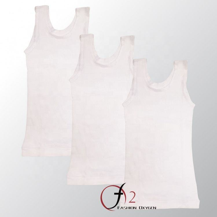 Custom comfort flat locking side seams tanks girls best inner wear tank tops rib cotton fresh singlet for young girls