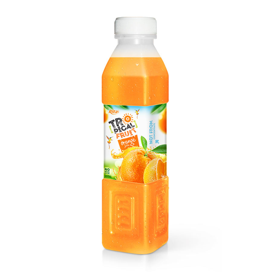 500ml Pet PP Bottle Orange Juice - OEM Fruit Juice