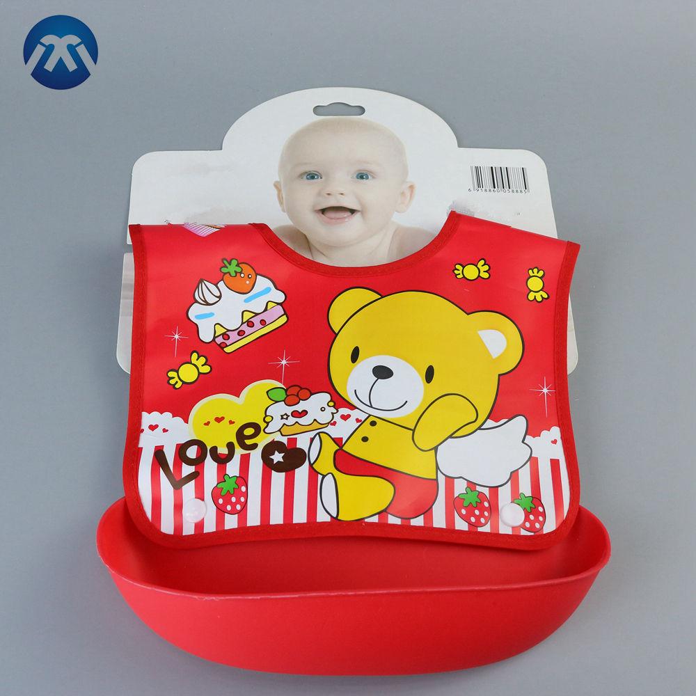Terry Babero Impermeable Trasera Bebé Con Mangas Delantal de alimentación