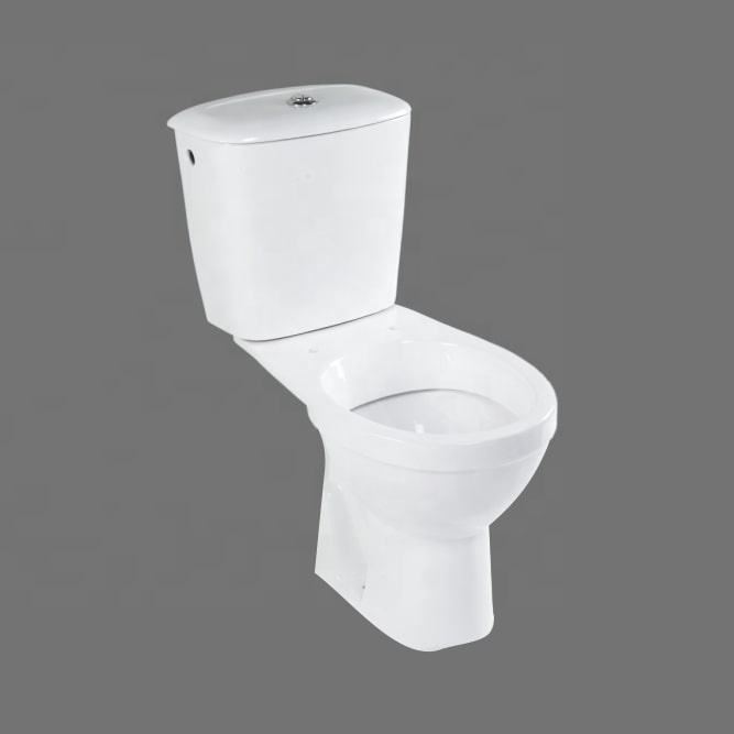 top selling wc water closet with cistern bathroom ceramic two piece dual flush and soft closing toilet