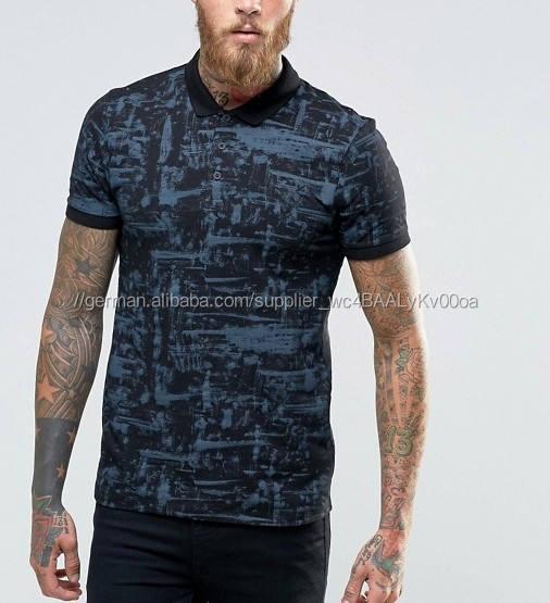 Männer's <span class=keywords><strong>textur</strong></span> gedruckt polo-shirts