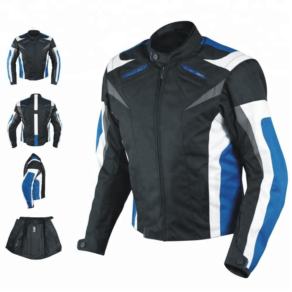 Wholesale Men textile Summer Jacket Armored Racing Apparel Motorcycle Motorbike Wear