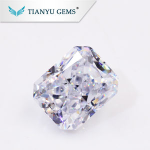 Wholesale Synthetic Zircon Stone 6A 8*10mm White Rectangle Modified Crushed Ice Cut Loose Cubic Zirconia Stones
