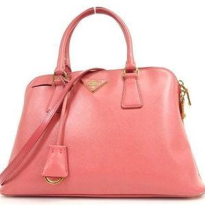 Pre propiedad se marca de diseñador bolso PRADA rosa de cuero de gamuza bolso de 2way bolsas a granel al por mayor venta