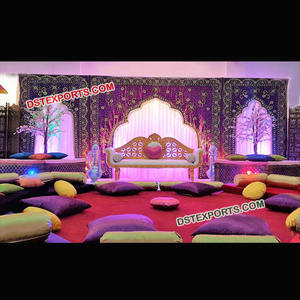 Purple Wedding Stage Backdrop For Decoration Elegant Design Wedding Stage Backdrop Royal Wedding Stage Backdrop Cloth frames