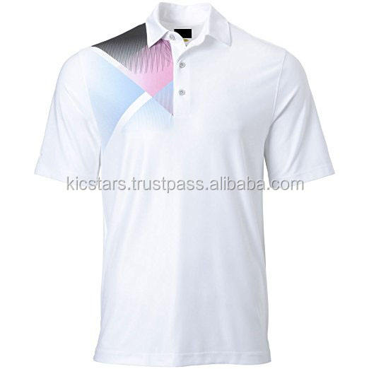 Latest design custom sublimation printing sports polo t-shirts