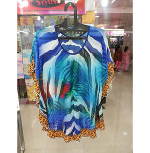 New Arrivals 2019 Digital Printed Polyester Women's Kaftan Top