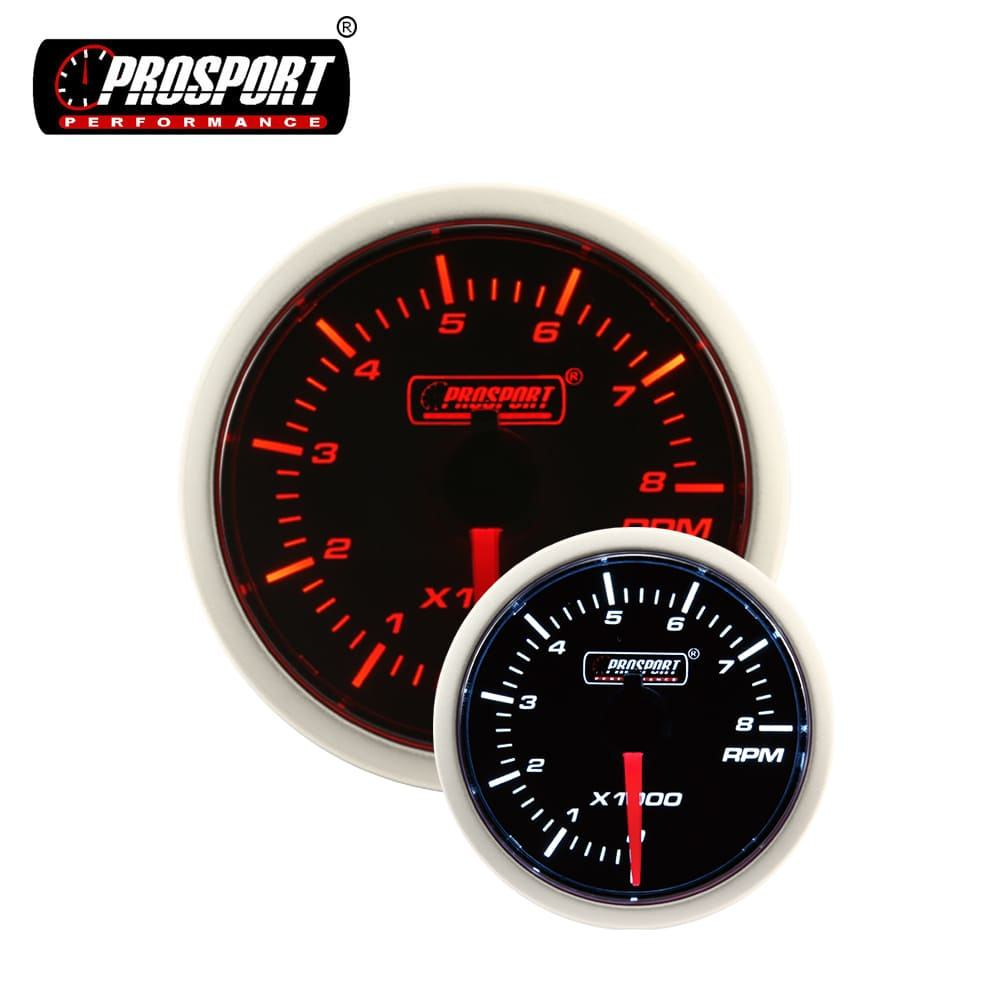 52mm Prosport Two Tone Auto Meter Tachometer Analog RPM
