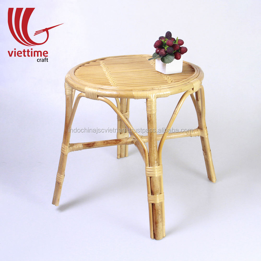 Round rattan/wicker coffee table, living room rattan furniture made in Vietnam wholesale