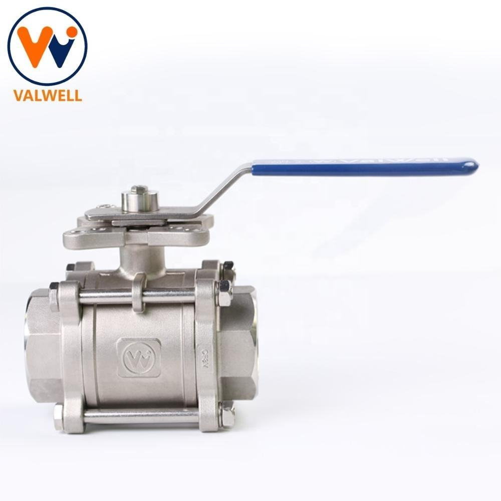 API6D 3 PC 3-PC Stainless CF8M 1000wog Ball Valve
