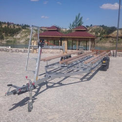 Pontoon Boat trailer made in Turkey with CE certification