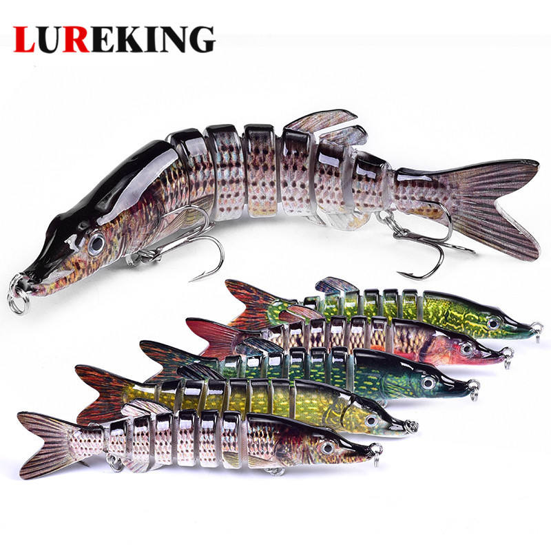 Lureking DF8 3D Tubuh Keras 8 Segmen Lure, Supplier Pike Memancing Umpan Wobblers 21G 125Mm 4.9""