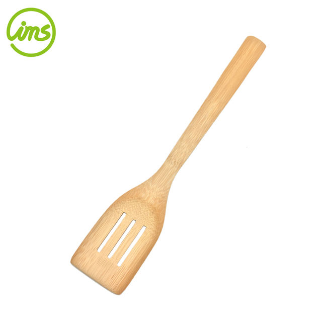 Top quality custom types of bamboo slotted spatula