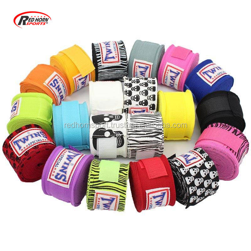 High quality Custom Boxing Hand wraps, Boxing wrist protection , Boxing Bandage 180 inch mma boxbandagen 120 inch Hand Wraps