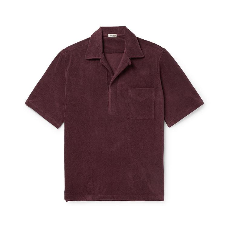 OEM custom New fashion mens Kamp Kraag Katoen Blend Badstof Polo t-shirt zijsplitjes polo shirts mannen