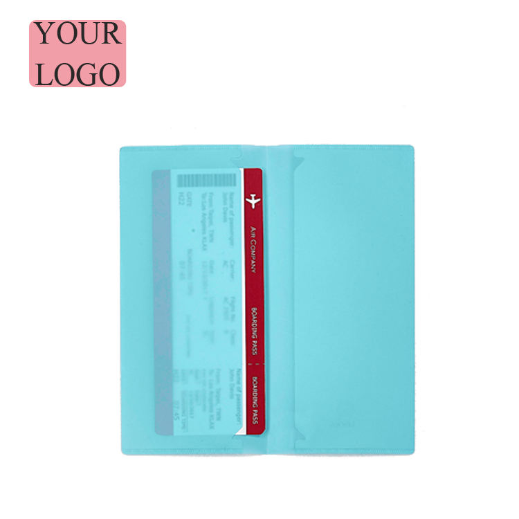 Customized PP Travel Ticket Holder for Business