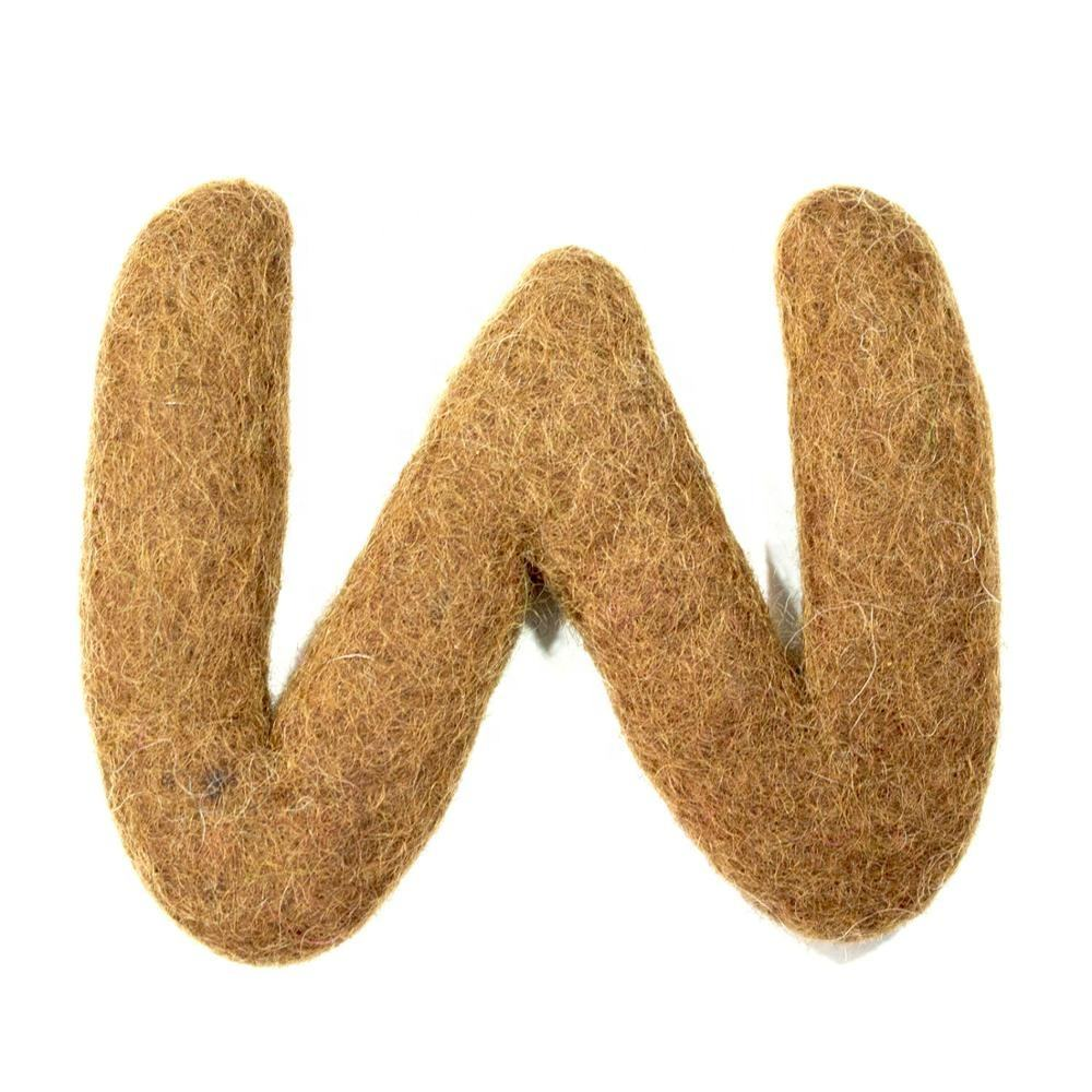FSBL-w, Felt Board Lowercase Letter, Made from Eco-friendly Azo-free New Zealand Wool, Felted by Skilled Women Artisans of Nepal