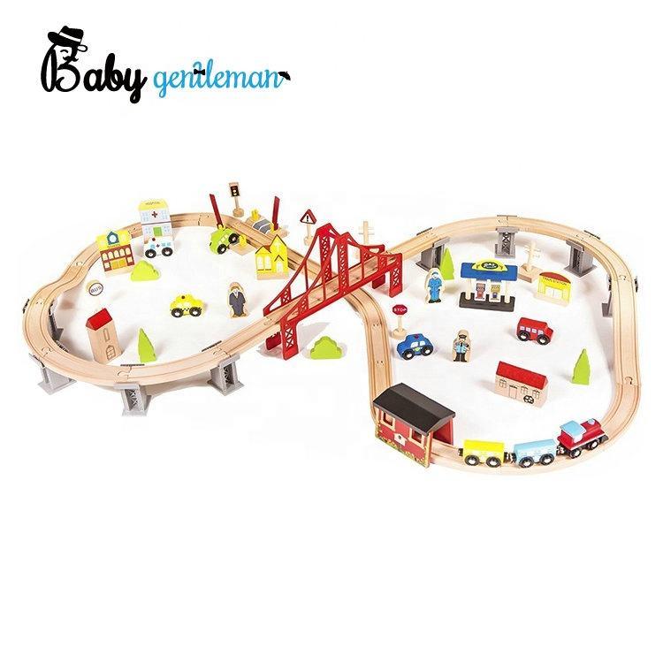 ホット販売 70 個子供木製列車トラックのおもちゃ卸売 Z04073C
