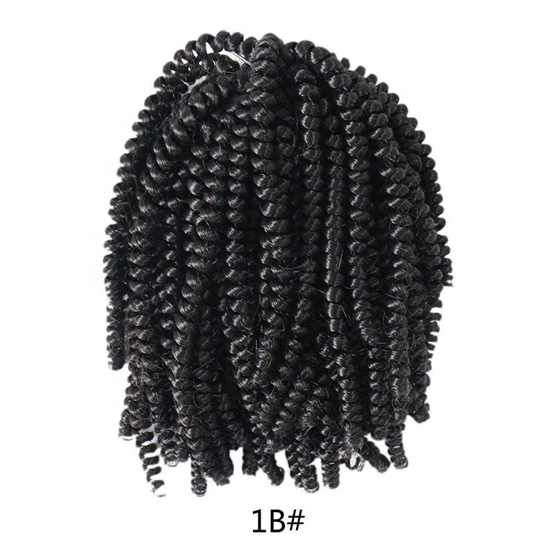 Hight quality braiding hair spring curly crochet hair weave, 100% human hair