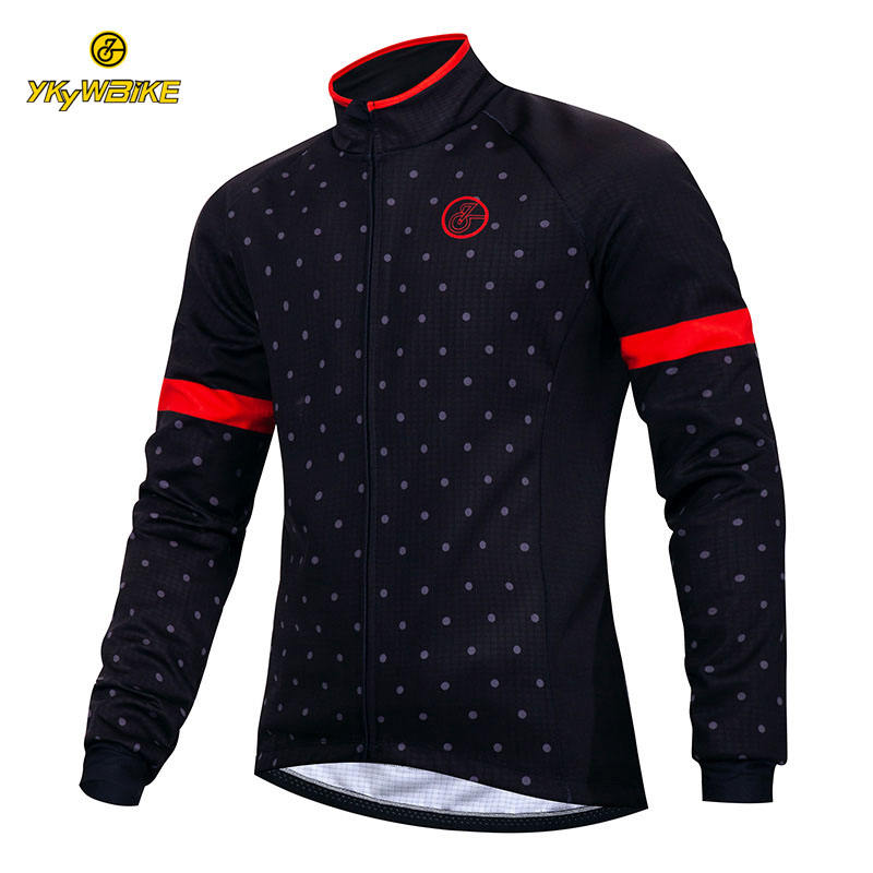 YKYWBIKE clothing manufacturers windproof thermal fleece winter custom cycling jacket