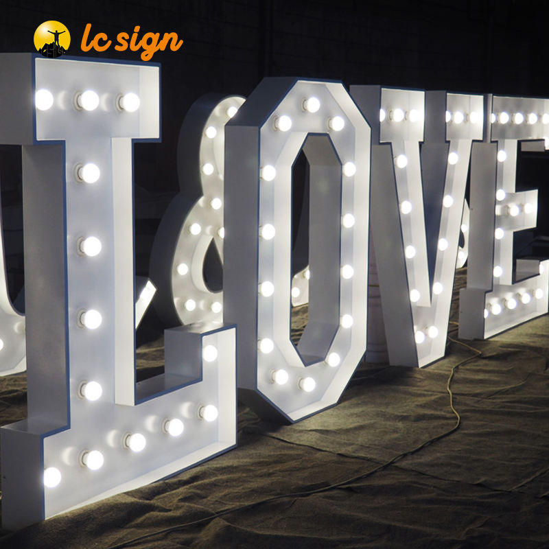 Custom LOVE letters for wedding decoration LED big marquee light letters sign