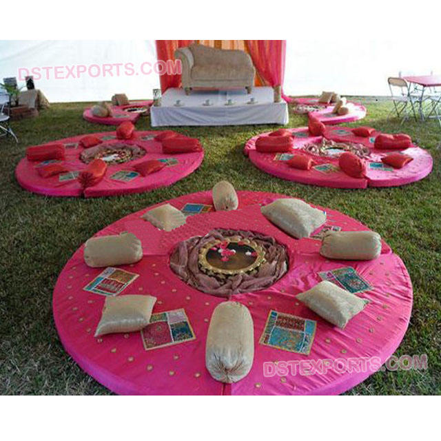 Mehndi Stage Decor/Different Style Wedding Sangeet Stage Cushions/Indian Wedding Sangeet Stages Decors