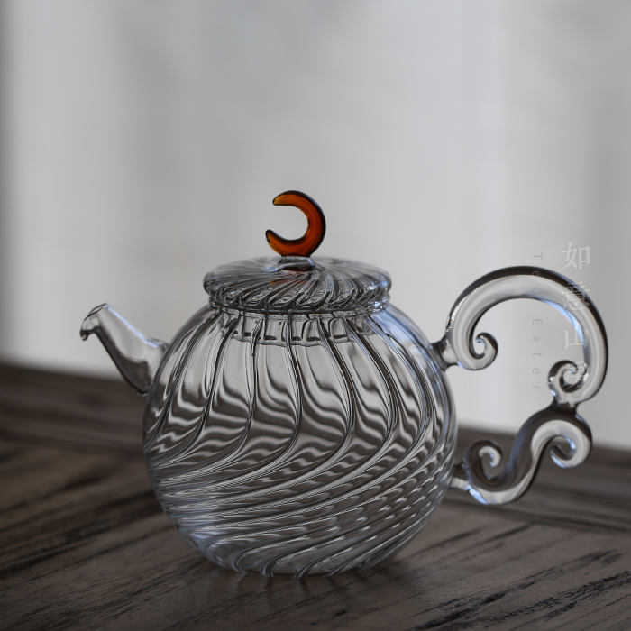 non-electric lead-free decorative pyrex glass tea kettle