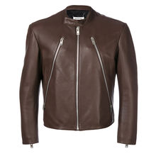 Wholesale men slim fit custom leather jackets